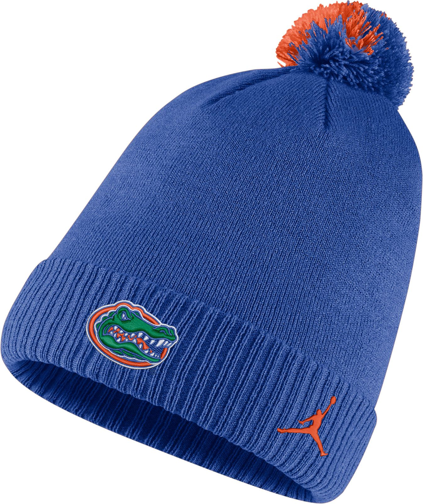 cheap for discount 68637 80a79 ... australia jordan mens florida gators blue football sideline pom beanie  4873e 8a8dd