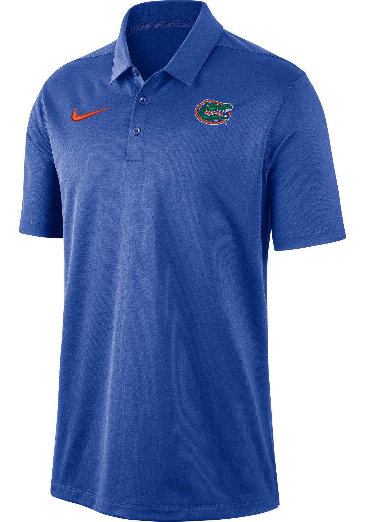 Nike Men's Florida Gators Blue Dri-FIT Franchise Polo