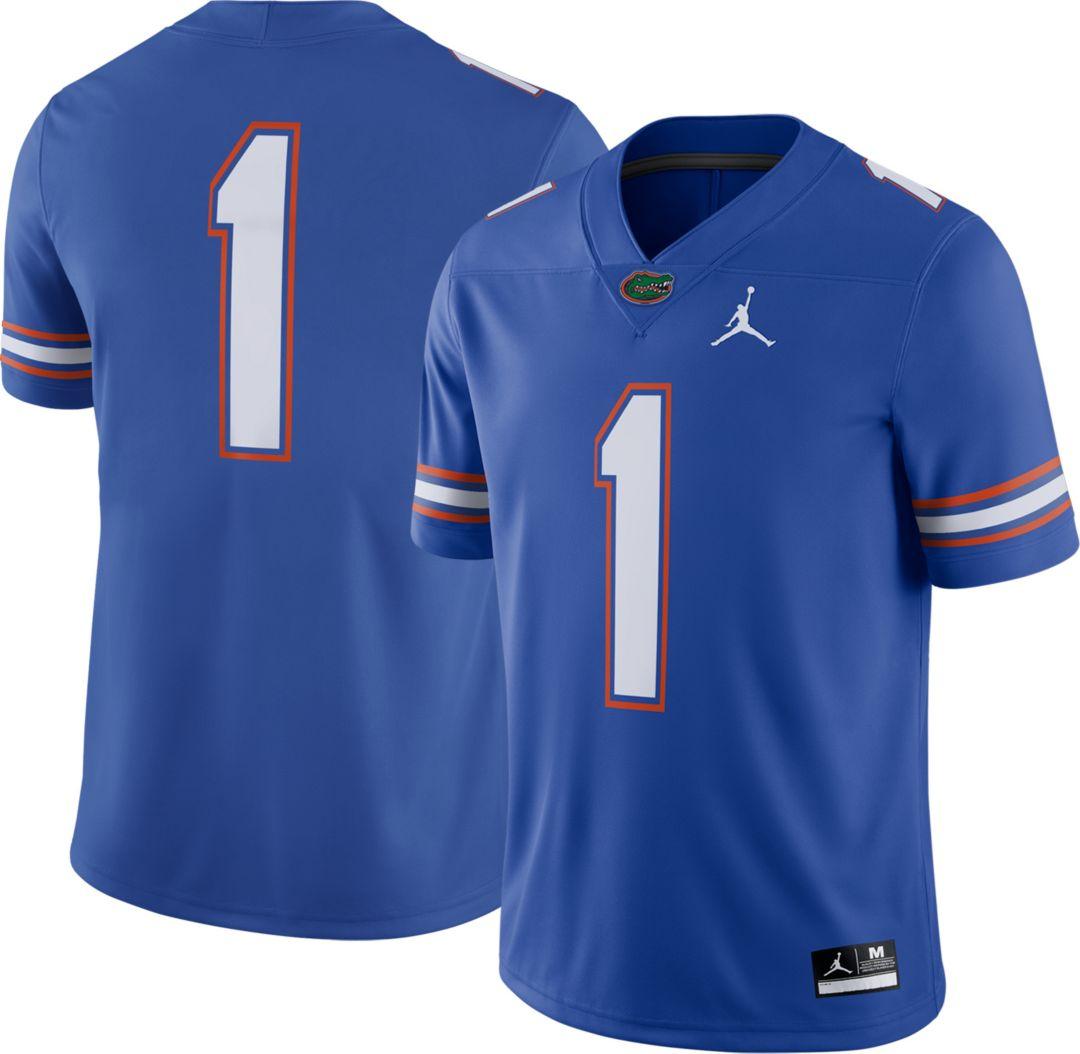 quality design f5e07 9cd1f Jordan Men's Florida Gators #1 Blue Dri-FIT Game Football Jersey