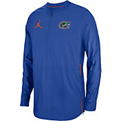 Jordan Men's Florida Gators Blue Lockdown Football Quarter-Zip Jacket