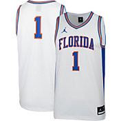 Jordan Men's Florida Gators #1 Retro Replica Basketball White Jersey