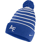 Nike Men's Air Force Falcons Blue Football Sideline Cuffed Pom Beanie