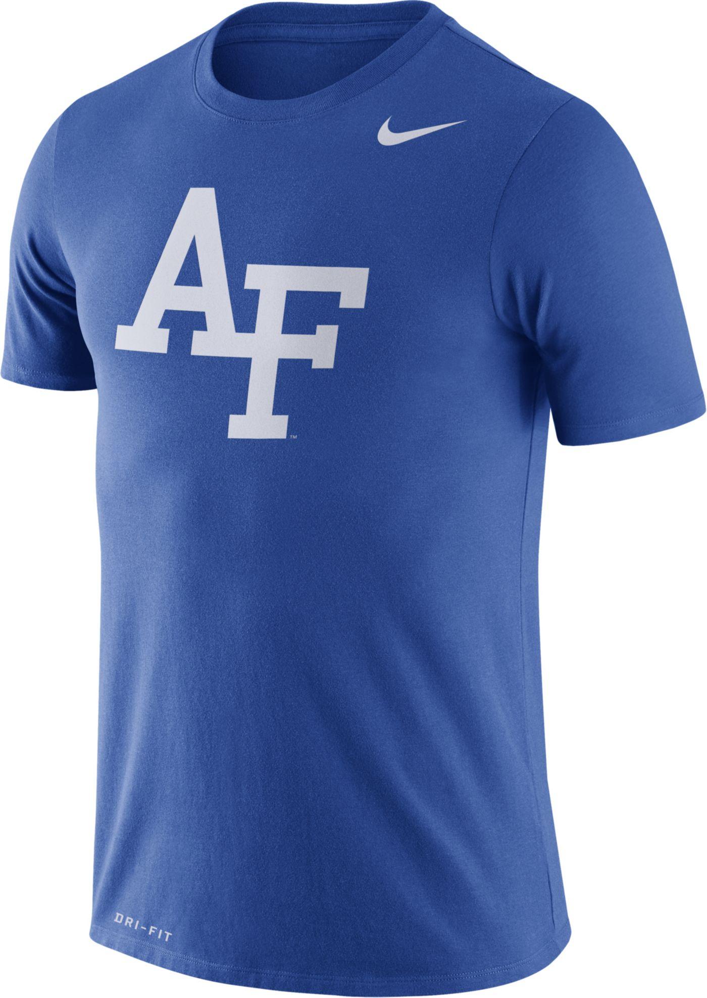 Nike Men's Air Force Falcons Blue Logo Dry Legend T-Shirt