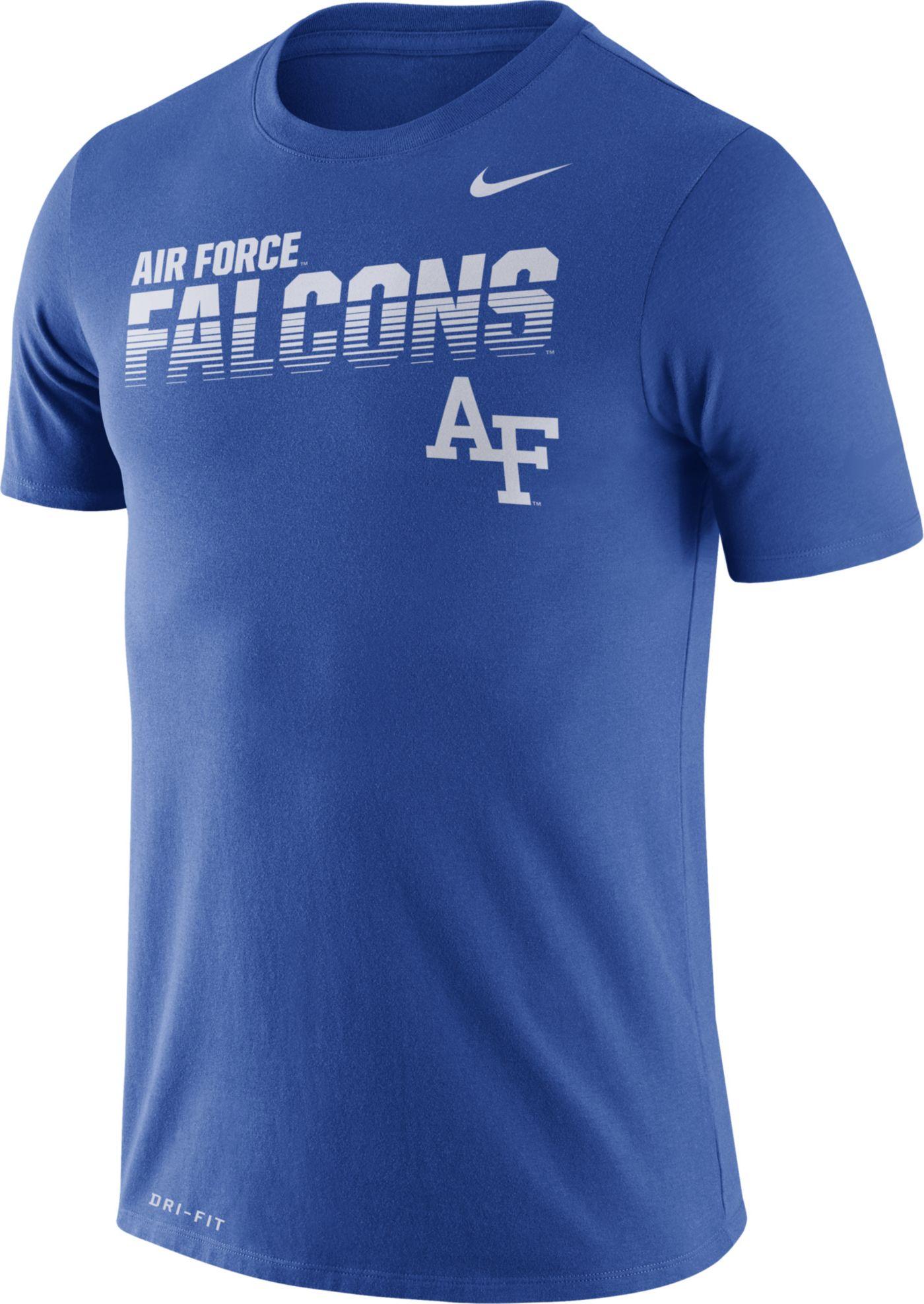 Nike Men's Air Force Falcons Blue Legend Football Sideline T-Shirt
