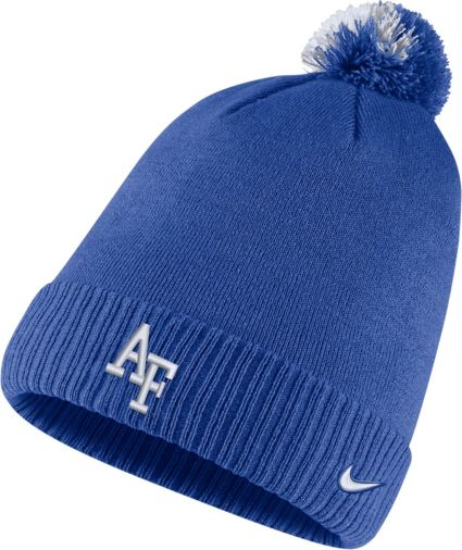 Nike Men s Air Force Falcons Blue Football Sideline Pom Beanie. noImageFound 6936488101be