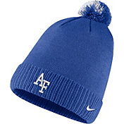 Nike Men's Air Force Falcons Blue Football Sideline Pom Beanie