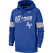Nike Men's Air Force Falcons Blue Therma Football Sideline Pullover Hoodie