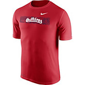 Nike Men's Fresno State Bulldogs Cardinal Football Sideline Legend T-Shirt