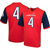 Nike Men's Fresno State Bulldogs #4 Cardinal Game Football Jersey