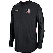 Nike Men's Florida State Seminoles Lockdown Football Quarter-Zip Black Jacket