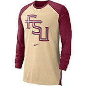 Nike Men's Florida State Seminoles Gold/Garnet Breathe Long Sleeve Shirt