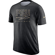 Nike Men's Florida State Seminoles Grey Player Dri-FIT Basketball T-Shirt