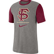 Nike Men's Florida State Seminoles Grey Dri-FIT Baseball Slub T-Shirt