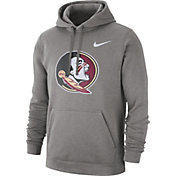 Nike Men's Florida State Seminoles Grey Club Fleece Pullover Hoodie