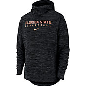 Nike Men's Florida State Seminoles Black Heathered Dri-FIT Spotlight Pullover Hoodie