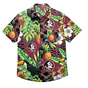 FOCO Men's Florida State Seminoles Garnet Floral Button-Up Shirt