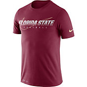 Nike Men's Florida State Seminoles Garnet Football Dri-FIT Cotton Facility T-Shirt