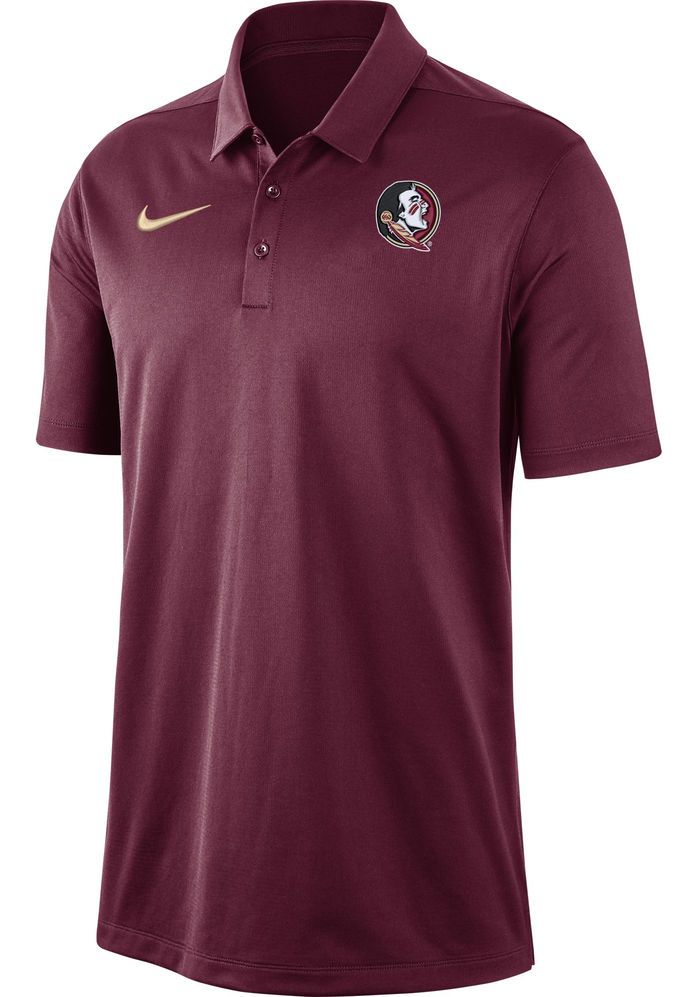 Nike Men's Florida State Seminoles Garnet Dri-FIT Franchise Polo
