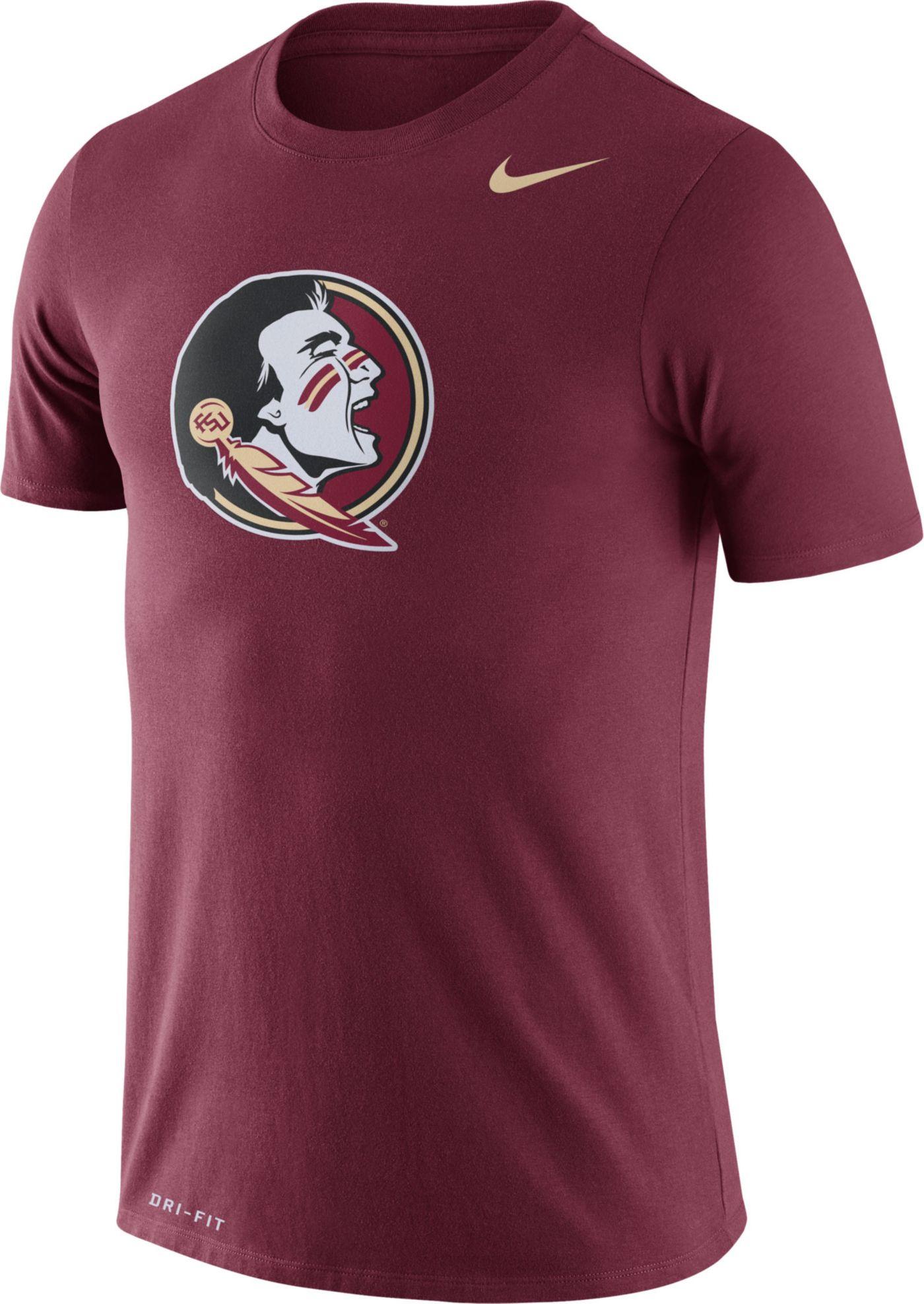 Nike Men's Florida State Seminoles Garnet Logo Dry Legend T-Shirt