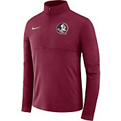 Nike Men's Florida State Seminoles Garnet Long Sleeve Core Half-Zip Shirt