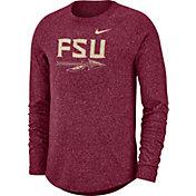 Nike Men's Florida State Seminoles Garnet Marled Raglan Long Sleeve T-Shirt