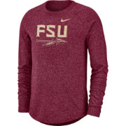 Nike Men's Florida State Seminoles Garnet Marled Raglan Long Sleeve T-Shirt