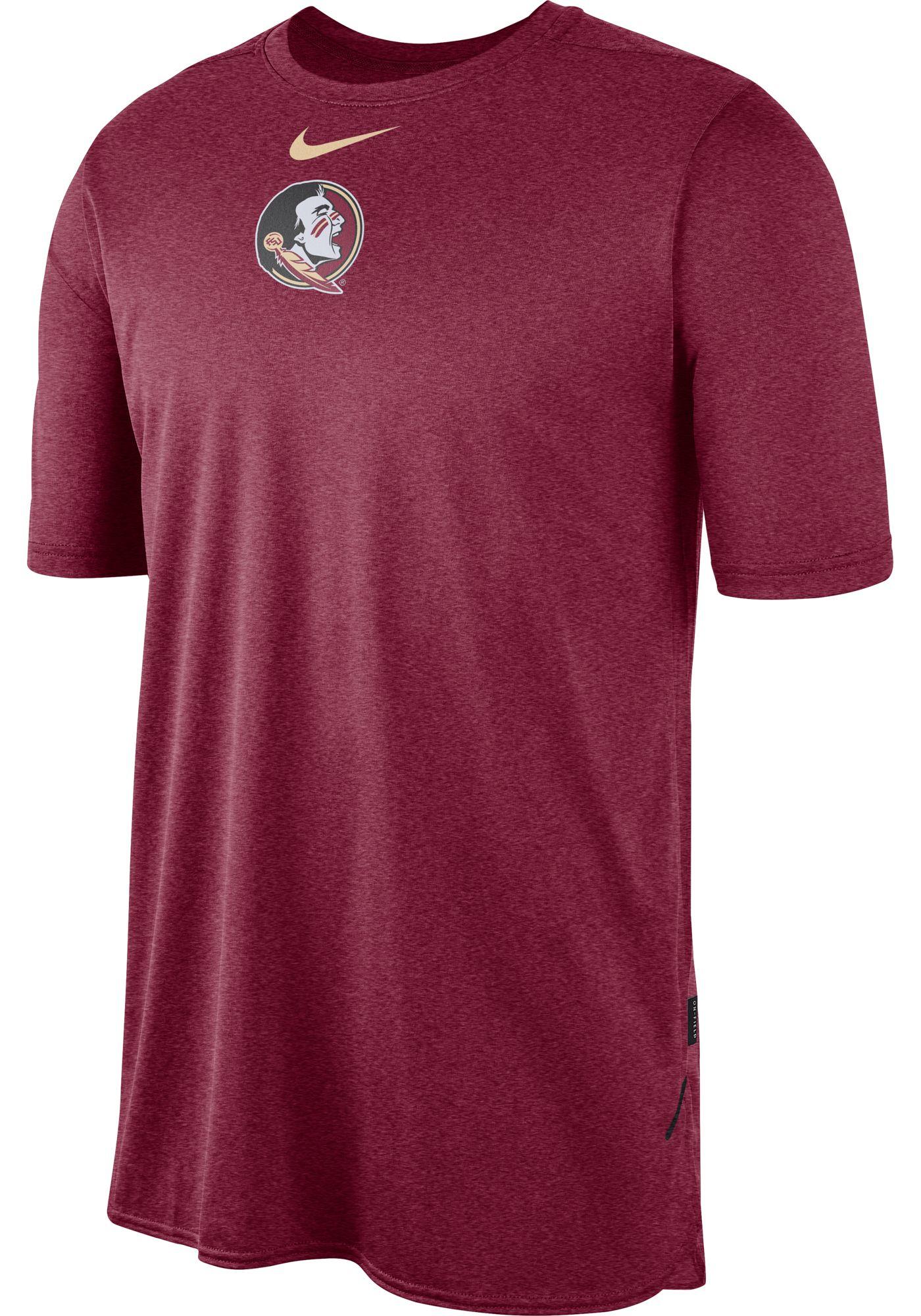 Nike Men's Florida State Seminoles Garnet Player Dri-FIT TechKnit T-Shirt