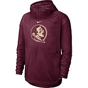 Nike Men's Florida State Seminoles Garnet Repel Football Sideline Player Pullover Hoodie
