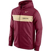 Nike Men's Florida State Seminoles Garnet Therma-FIT Full-Zip Sideline Hoodie