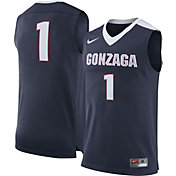 Nike Men's Gonzaga Bulldogs Blue #1 Replica Basketball Jersey