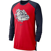 Nike Men's Gonzaga Bulldogs Red/Blue Breathe Long Sleeve Shirt