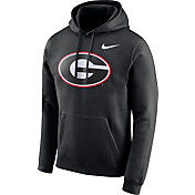 Nike Men's Georgia Bulldogs Club Fleece Pullover Black Hoodie
