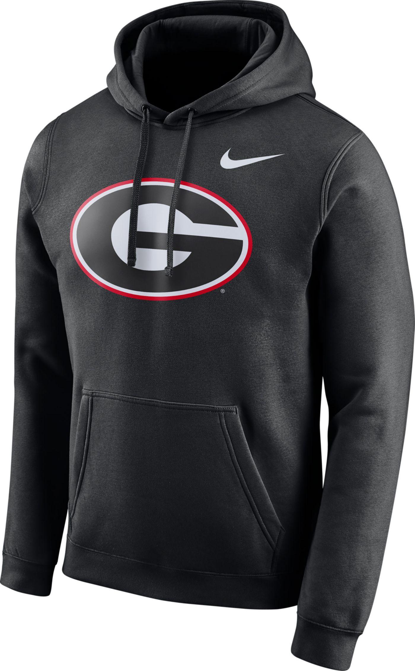 Nike Men's Georgia Bulldogs Club Fleece Pullover Black Hoodie
