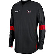 Nike Men's Georgia Bulldogs Lockdown Half-Zip Football Black Jacket