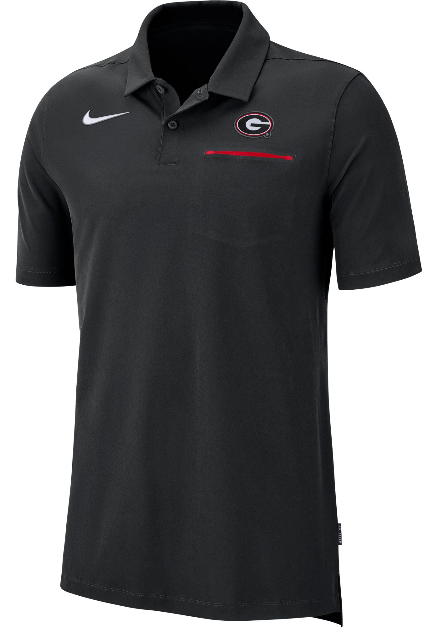 Nike Men's Georgia Bulldogs Dri-FIT Elite Football Sideline Black Polo