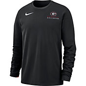 Nike Men's Georgia Bulldogs Dri-FIT Modern Long Sleeve Crew Neck Black T-Shirt