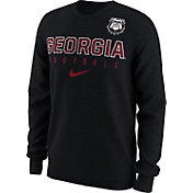 Nike Men's Georgia Bulldogs Black Dri-FIT Practice Long Sleeve Shirt