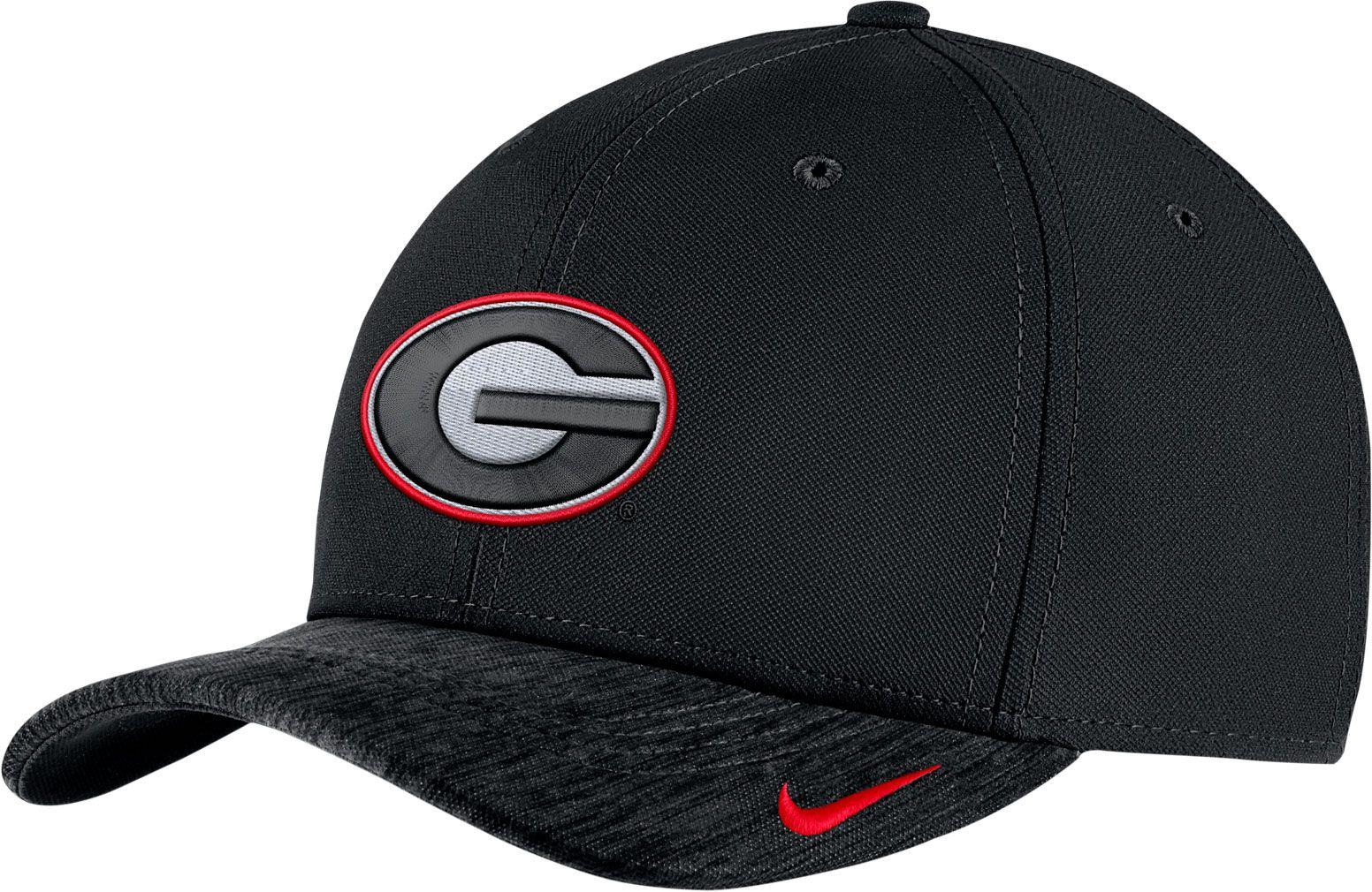 d392f8885d8623 Nike Men's Georgia Bulldogs Black Aerobill Swoosh Flex Classic99 ...