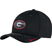 Nike Men's Georgia Bulldogs Black Aerobill Swoosh Flex Classic99 Football Sideline Hat