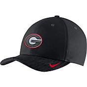 Nike Men's Georgia Bulldogs Black Aerobill Swoosh Classic99 Football Sideline Adjustable Hat