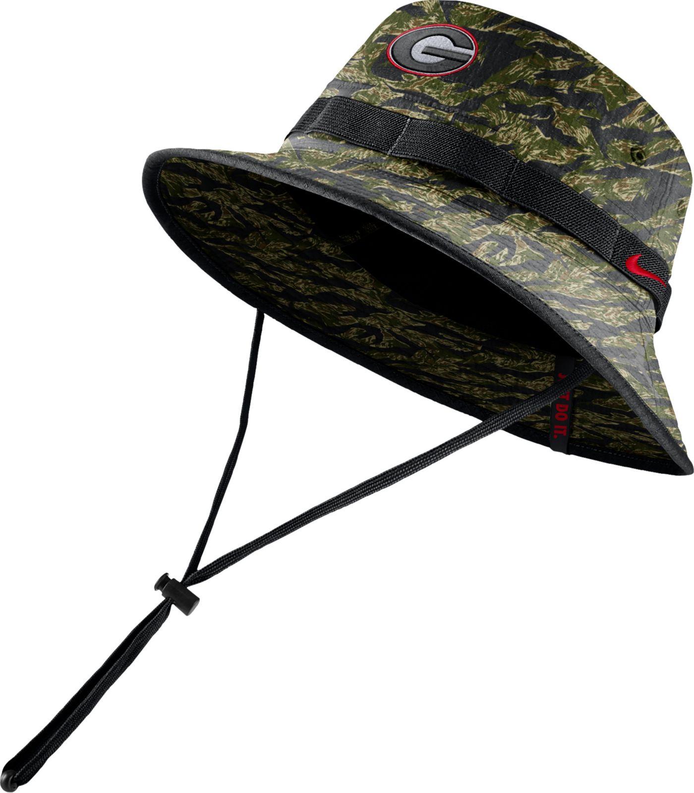 Nike Men's Georgia Bulldogs Tiger Camo Dri-FIT Sideline Bucket Black Hat