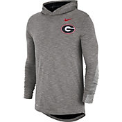 Nike Men's Georgia Bulldogs Grey Cotton Long Sleeve Hoodie T-Shirt