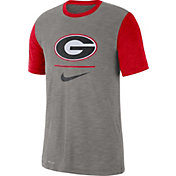 Nike Men's Georgia Bulldogs Grey Dri-FIT Baseball Slub T-Shirt