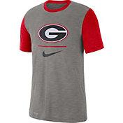 3e035bdc374 Product Image · Nike Men s Georgia Bulldogs Grey Dri-FIT Baseball Slub  T-Shirt