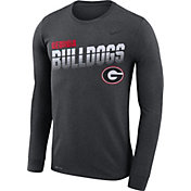 Nike Men's Georgia Bulldogs Grey Legend Football Sideline Long Sleeve T-Shirt