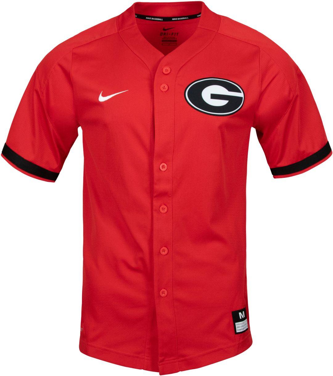 a92ac7d643e Nike Men's Georgia Bulldogs Red Dri-FIT Replica Baseball Jersey ...