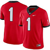 Nike Men's Georgia Bulldogs #1 Red Game Football Jersey