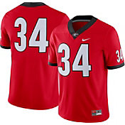 Nike Men's Georgia Bulldogs #34 Red Dri-FIT Game Football Jersey