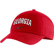 Nike Men's Georgia Bulldogs Red Heritage86 Arch Wordmark Hat