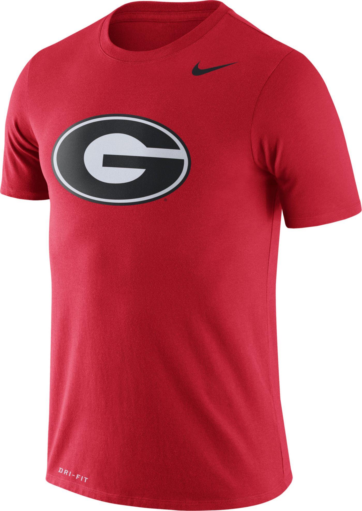 Nike Men's Georgia Bulldogs Red Logo Dry Legend T-Shirt